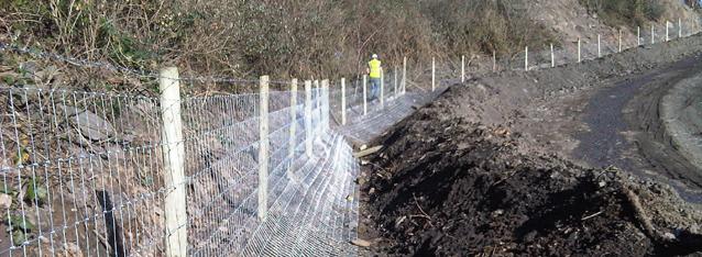 Badger Proof Fencing Gilfach Quarry Keystone